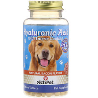 Hyaluronic Acid for Dogs, Natural Cheddar Cheese Flavor, 60 Micro-Tablets - фото