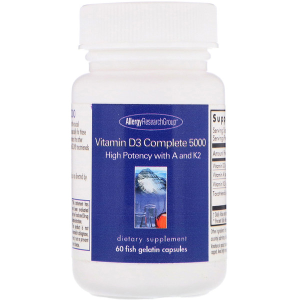 Allergy Research Group, Vitamin D3 Complete 5000, 60 желатиновых капсул (Discontinued Item)