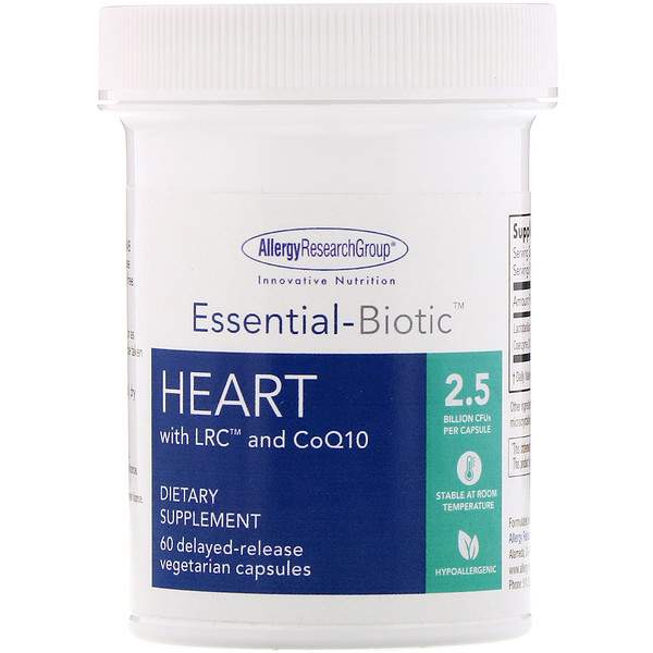Essential-Biotic, Heart with LRC and CoQ10, 2.5 Billion CFU, 60 Delayed-Release Vegetarian Capsules