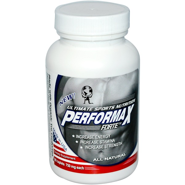 Aloha Medicinals, Performax Forte, Ultimate Sports Nutrition, 750 мг, 90 каплетов (Discontinued Item)