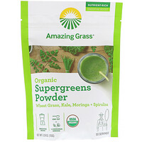 Organic SuperGreens Powder, 5,29 унц. (150 г) - фото