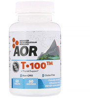 T-100, Thyroid Support, 60 Tablets - фото