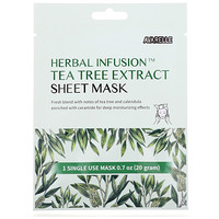Herbal Infusion, Tea Tree Extract Sheet Mask, 1 Sheet, 0.7 oz (20 g) - фото