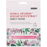 Herbal Infusion, Rosehip Seed Extract Sheet Mask, 1 Sheet, 0.7 oz (20 g) - фото