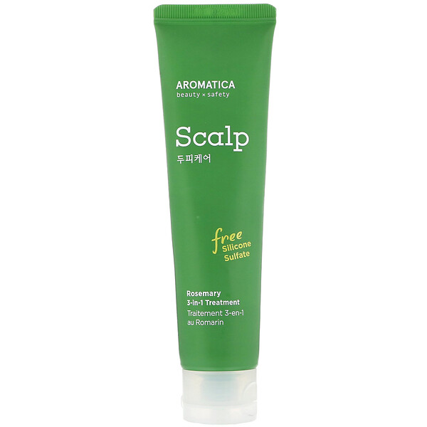 Aromatica, Rosemary 3-in-1 Scalp Treatment, 3.72 fl oz (110 ml)