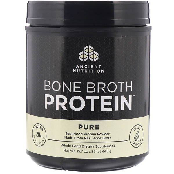 Bone Broth Protein, Pure, .98 lb (445 g)