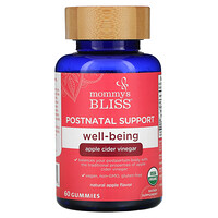Postnatal Support, Well-Being, Natural Apple, 60 Gummies - фото