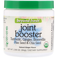 Joint Booster, Tumeric, Ginger, Boswellia, Flax Seed & Chia Seed, Natural Ginger Flavor, 2.96 oz (84 g) - фото
