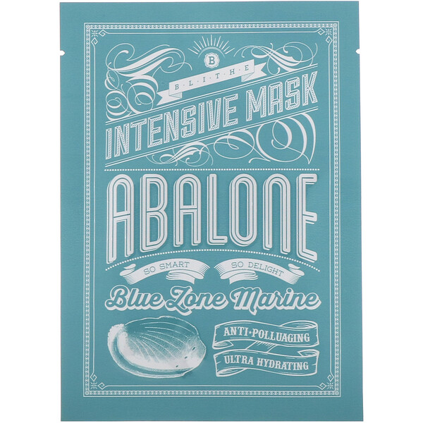 Blithe, Blue Zone Marine, Intensive Mask, Abalone, 8 Sheets, 0.88 oz (25 g) Each