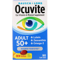 Ocuvite, Adult 50+, Eye Vitamin & Mineral Supplement, 90 Soft Gels - фото