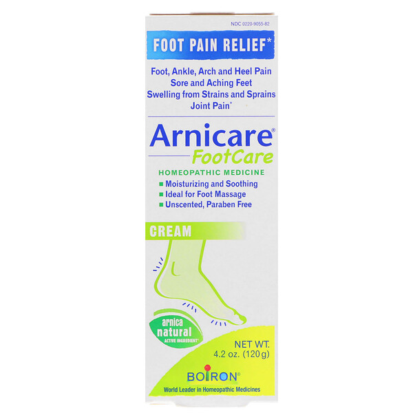 Arnicare Foot Care Cream, Unscented, 4.2 oz (120 g)
