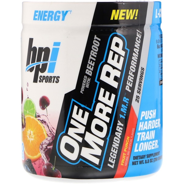 BPI Sports, One More Rep, Fruit Punch, 8.8 oz (250 g) (Discontinued Item)