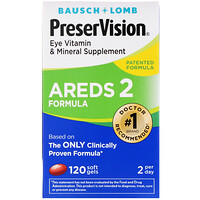 PreserVision, AREDS 2 Formula, Eye Vitamin & Mineral Supplement, 120 Soft Gels - фото