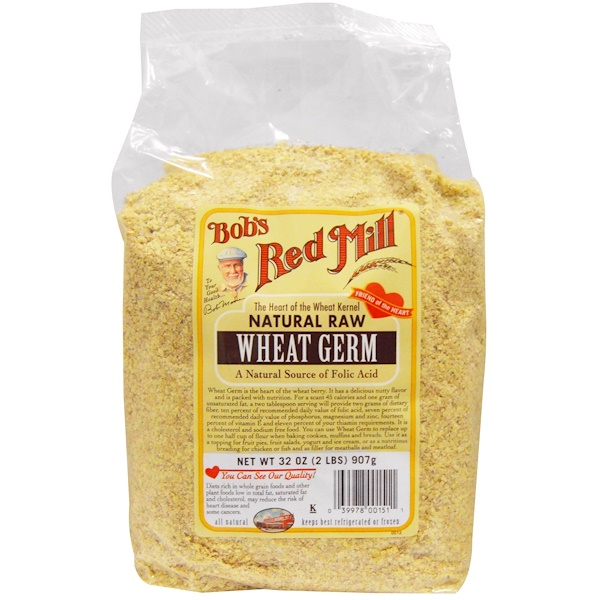 Bob's Red Mill, Wheat Germ, Natural Raw, 32 oz (907 g) (Discontinued Item)