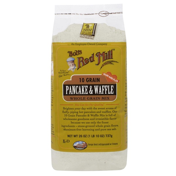 Bob's Red Mill, 10 Grain Pancake & Waffle Mix, Whole Grain, 26 oz (737 g) (Discontinued Item)