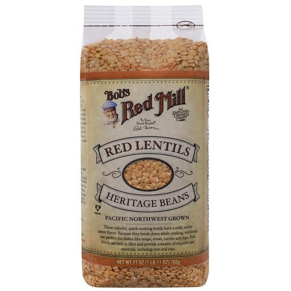 Bob's Red Mill, Red Lentils Heritage Beans, 27 oz (765 g)