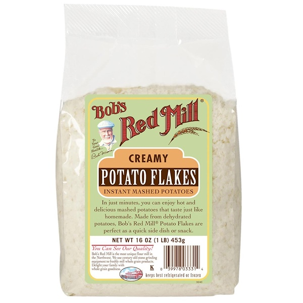 Bob's Red Mill, Potato Flakes, Instant Mashed Potatoes, 16 oz (453 g) (Discontinued Item)