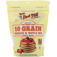 10 Grain Pancake & Waffle Mix, Whole Grain, 27 oz (680 g) - фото