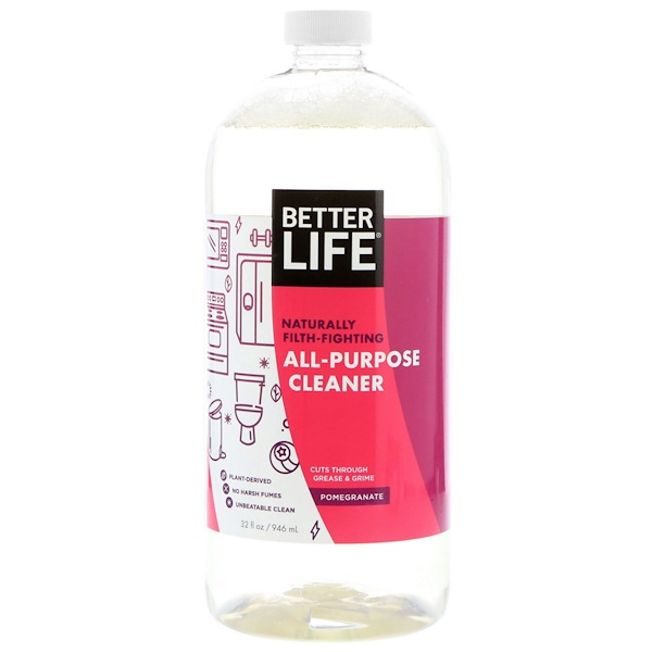 Better Life, All-Purpose Cleaner, Pomegranate, 32 fl oz (946 ml) (Discontinued Item)