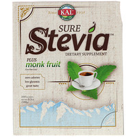 Sure Stevia, Plus Monk Fruit, 100 Packets, 3.5 oz (100 g) - фото