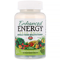 Enhanced Energy, Once Daily Whole Food Multivitamin, 60 Vegetarian Tablets - фото
