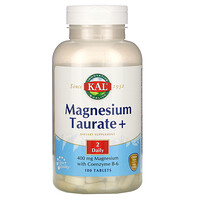 Magnesium Taurate +, 400 mg, 180 Tablets - фото