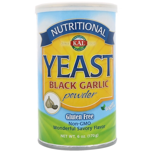 KAL, Nutritional Yeast Black Garlic Powder, 6 oz (170 g) (Discontinued Item)