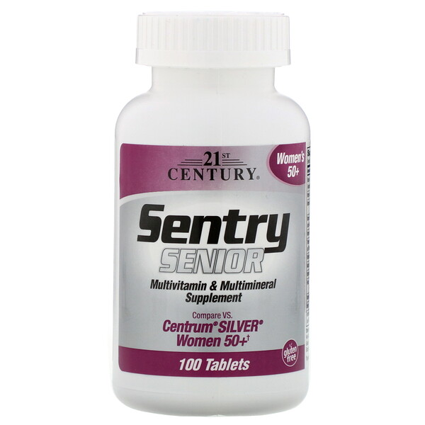 Sentry Senior, Multivitamin & Multimineral Supplement, Women 50+, 100 Tablets