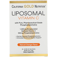 Liposomal Vitamin C, Natural Orange Flavor, 1000 mg, 30 Packets, 0.2 oz (5.7 ml) Each - фото
