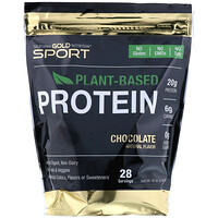 Chocolate Plant-Based Protein, Vegan, Easy to Digest, 2 lb (907 g) - фото