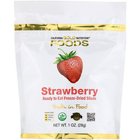 Freeze-Dried Strawberry, Ready to Eat Whole Freeze-Dried Slices, 1 oz (28 g) - фото