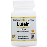 Lutein with Zeaxanthin, 20 mg, 60 Veggie Softgels - фото