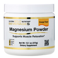 Magnesium Powder Beverage, Orange Flavor, 13.1 oz (373 g) - фото