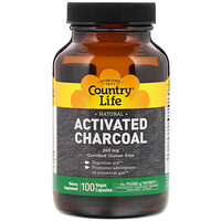Activated Charcoal, 260 mg, 100 Vegan Capsules - фото