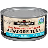 Albacore Tuna, Solid White-No Salt Added , 12 oz (340 g) - фото