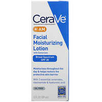 AM Facial Moisturizing Lotion with Sunscreen, SPF 30, 3 fl oz (89 ml) - фото