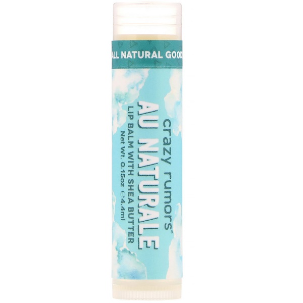 Crazy Rumors, Lip Balm with Shea Butter, Au Naturale, 0.15 oz (4.4 ml) (Discontinued Item)