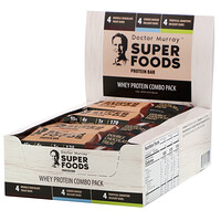 Superfoods Protein Bars, Whey Protein Combo Pack, 12 Bars, 2.05 oz (58 g) Each - фото