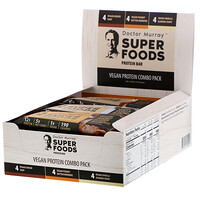 Superfoods Protein Bars, Vegan Protein Combo Pack, 12 Bars, 2.05 oz (58 g) Each - фото