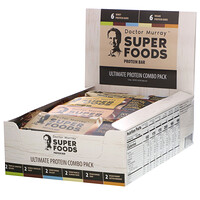 Superfoods Protein Bars, Ultimate Protein Combo Pack, 12 Bars, 2.05 oz (58 g) Each - фото