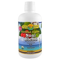 Organic Certified Noni Blend, Natural Raspberry Flavor, 32 fl oz (946 ml) - фото