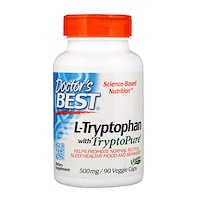 L-Tryptophan with TryptoPure, 500 mg, 90 Veggie Caps - фото