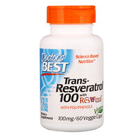 Trans-Resveratrol with Resvinol, 100 mg, 60 Veggie Caps - фото