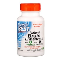 Natural Brain Enhancers wtih AlphaSize and SerinAid, 60 Veggie Caps - фото