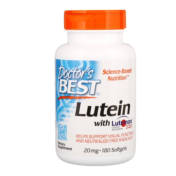 Lutein with Lutemax 2020, 20 mg, 180 Softgels