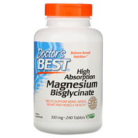 High Absorption Magnesium Bisglycinate, 100 mg , 240 Tablets - фото