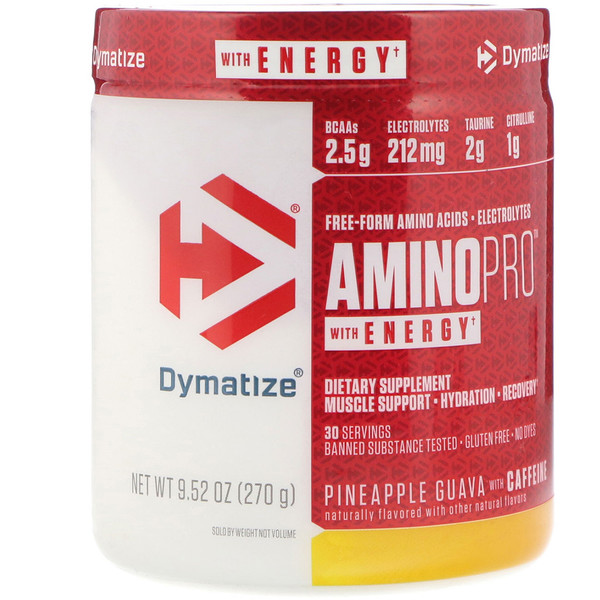 Dymatize Nutrition, AminoPro with Energy, Pineapple Guava, 9.52 oz (270 g) (Discontinued Item)