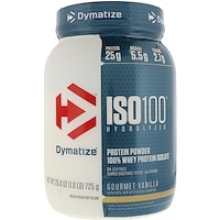 ISO 100 Hydrolyzed 100% Whey Protein Isolate, Gourmet Vanilla, 25.6 oz (725 g) - фото