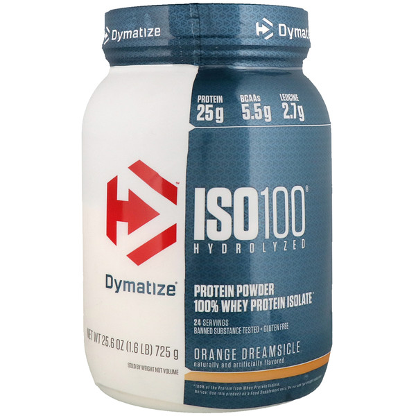 ISO100 Hydrolyzed, 100% Whey Protein Isolate, Orange Dreamsicle, 1.6 lb (725 g)