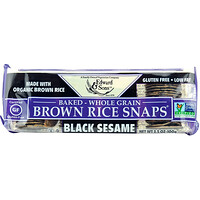 Baked Whole Grain Brown Rice Snaps, Black Sesame, 3.5 oz (100 g) - фото